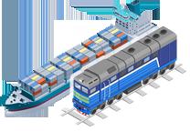Контейнерные перевозки на смешанном железнодорожно-водном сообщении